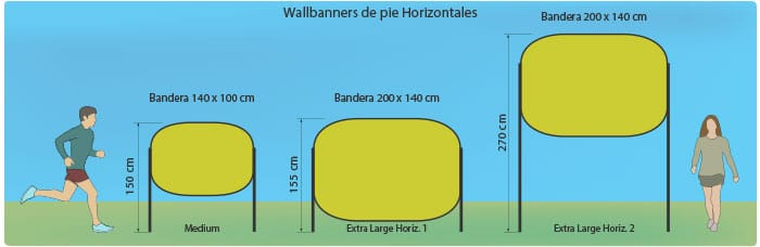 Wallbanners de pie horizontal